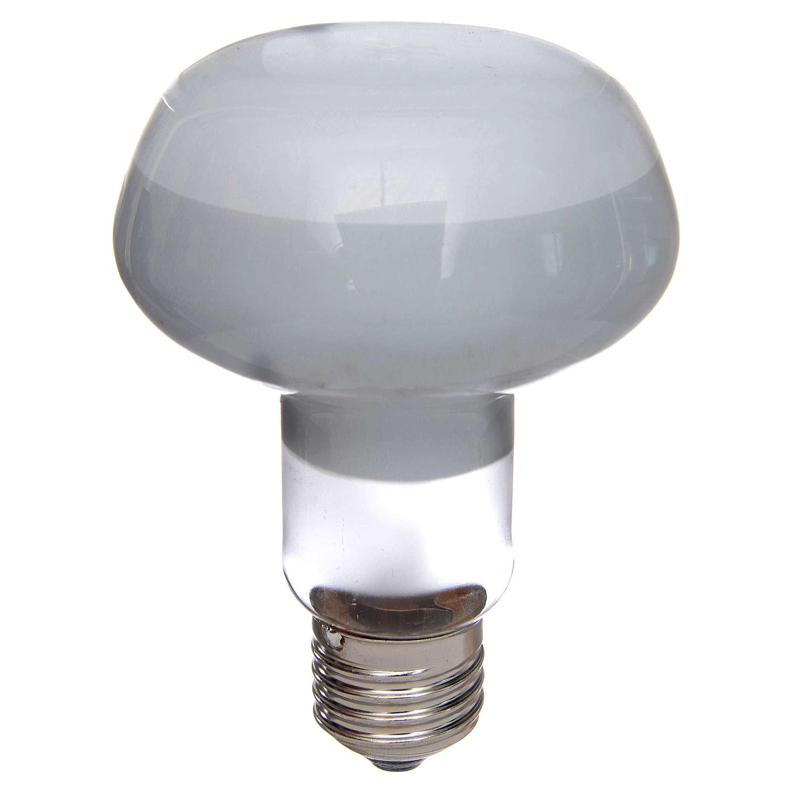 Ampoule réflecteur R80 lumière diffuse 60W E27 blanc 4