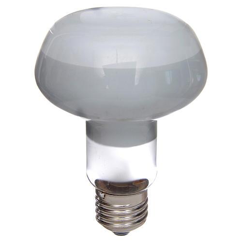 Ampoule réflecteur R80 lumière diffuse 60W E27 blanc 1