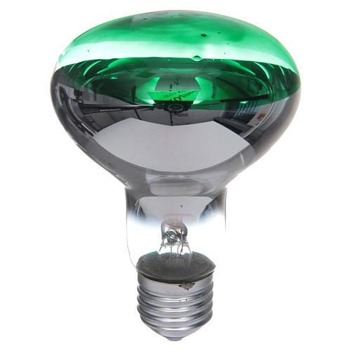 Bombilla 80° verde E27 para belén 1