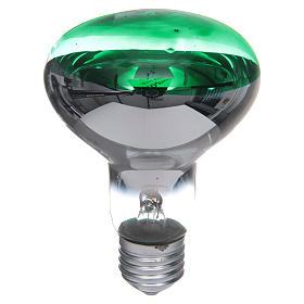 Ampoule réflecteur R80 lumière diffuse 60W E27 vert s1