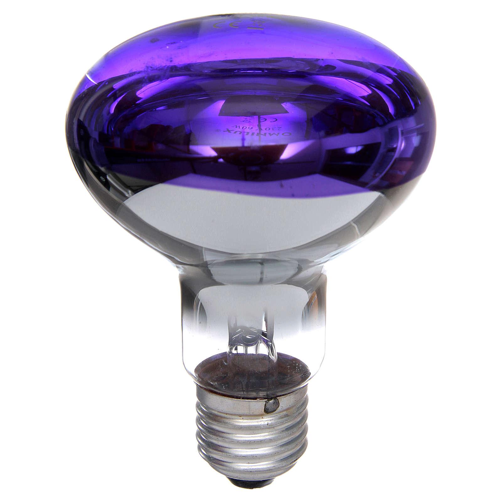 Lampada fascio diffuso 80° viola E27 illuminazione presepi 4