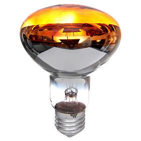 Lampada fascio diffuso 80° arancione E27 illuminazione presepi s1