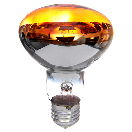 Lampada fascio diffuso 80° arancione E27 illuminazione presepi 1