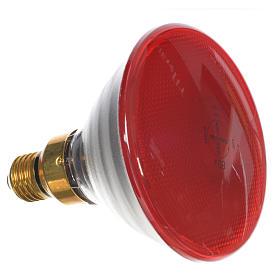 Lampada colorata 80W E27 rossa illuminazione presepi s2