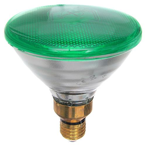 Bombilla coloreada 80W E27 verde para belén 1