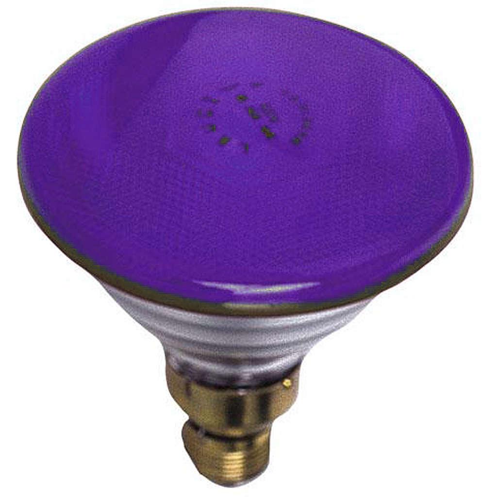 Lampada colorata 80W E27 viola illuminazione presepi 4