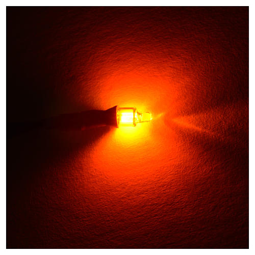 Microlampe Neon 220 Volt Durchm. 4 mm Drähte 20 cm 5