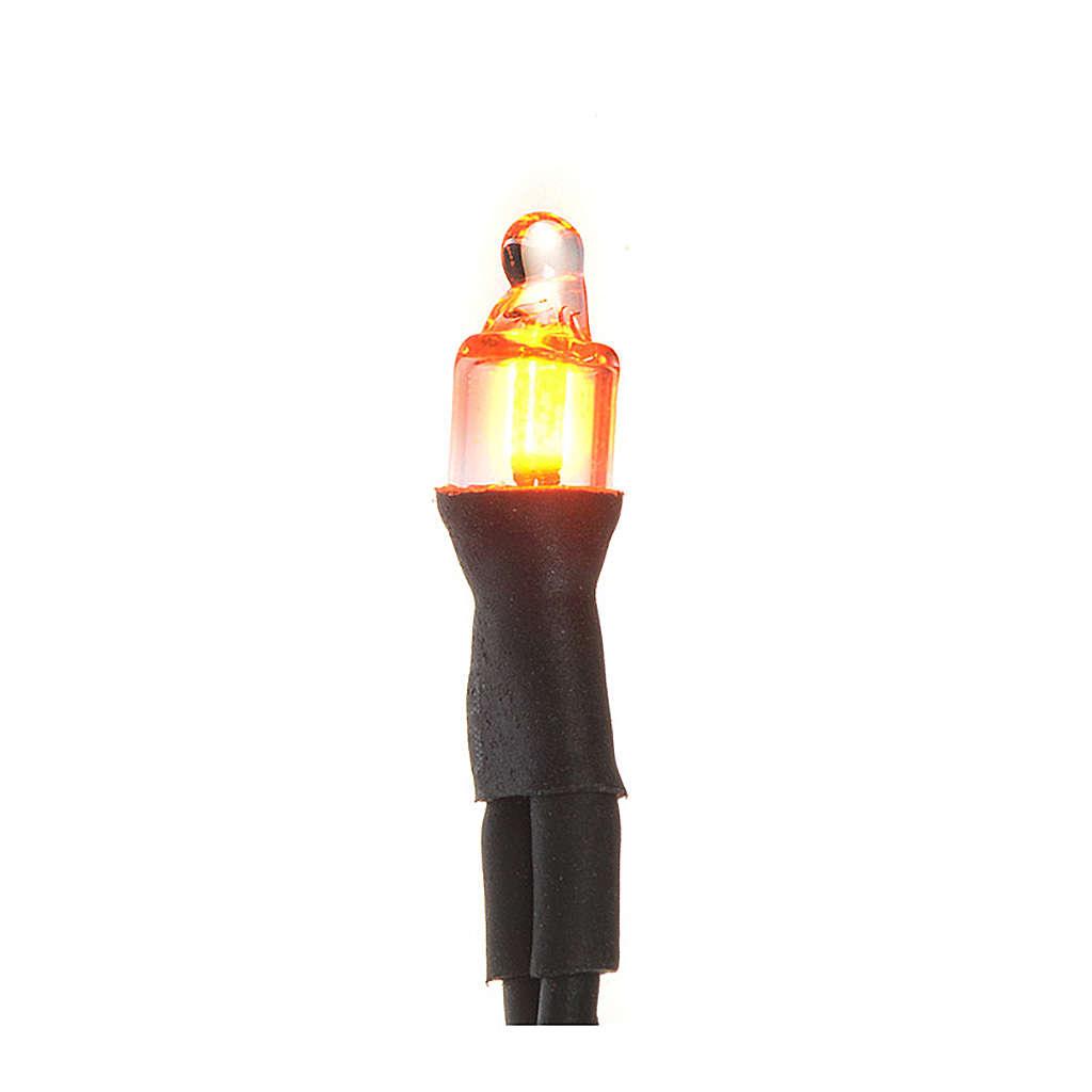 Microlampada neon volt 220 diam 4 mm con fili cm 20 4
