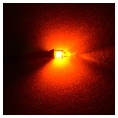 Microlampada neon volt 220 diam 4 mm con fili cm 20 5