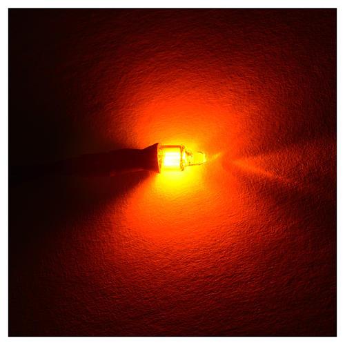 Microlampada neon volt 220 diam 4 mm con fili cm 20 2