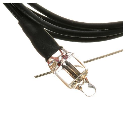 Mini ampoule néon 220v diam. 6mm avec fils 20cm 4