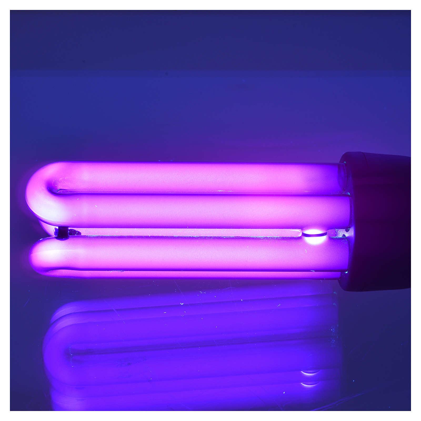 Ampoule lumière noire effet ultraviolets 25W E27 à économie 4