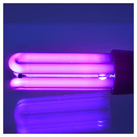 Ampoule lumière noire effet ultraviolets 25W E27 à économie s3