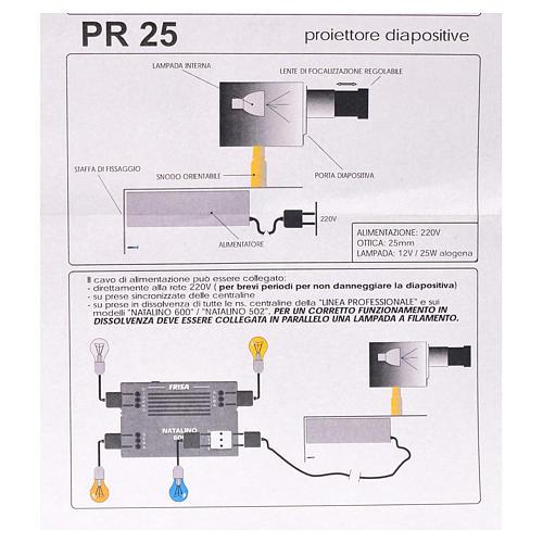 Proyector diám. 25 mm. belén 5