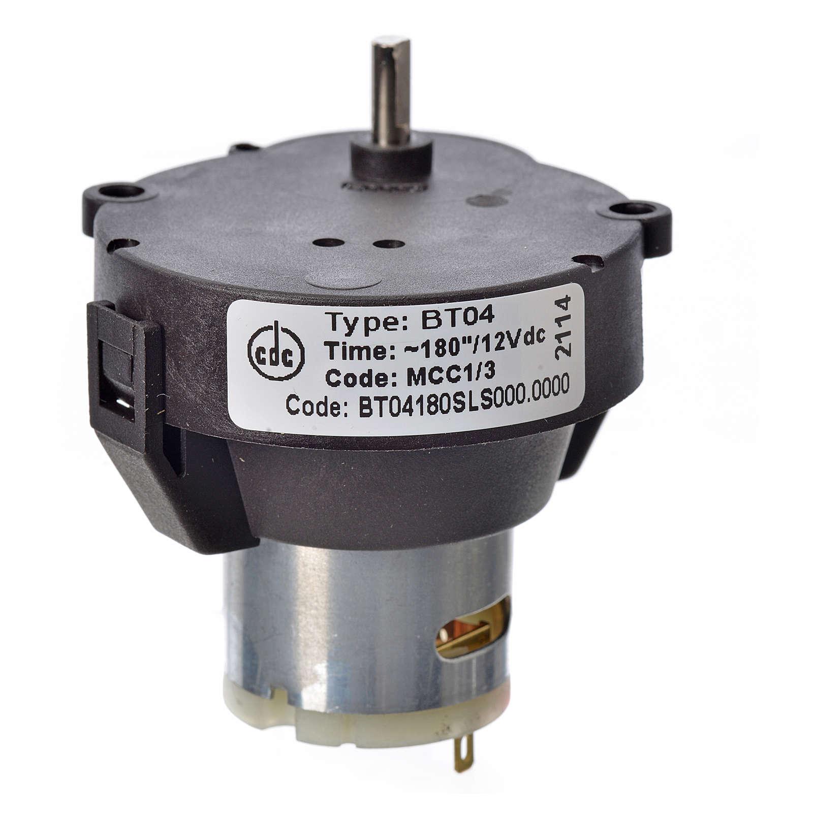 Moto-réducteur pour crèche MCC à courent continu 12V t/min 1- 4