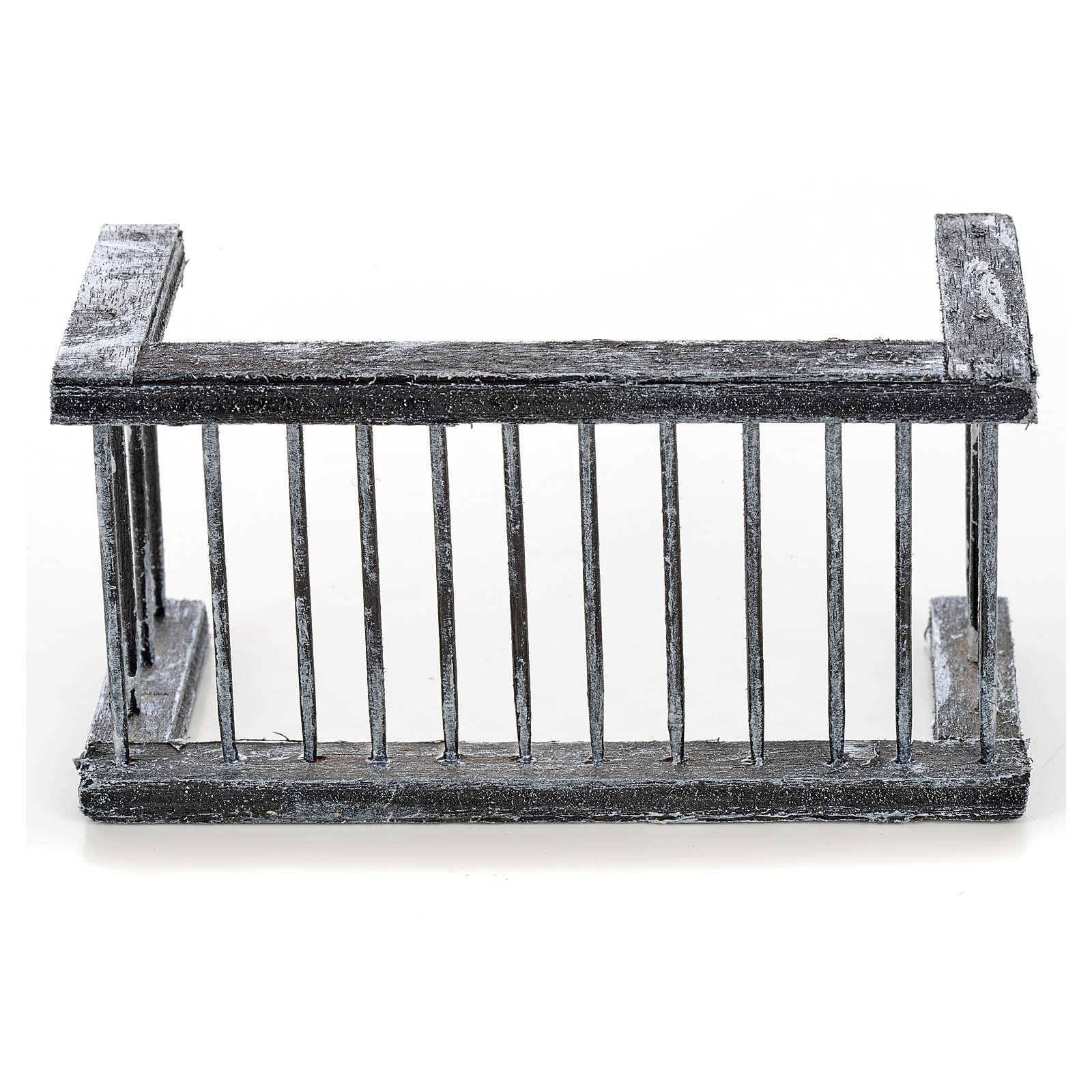 Mini balustrade balcon crèche Napolitaine 11,5x5x6 cm 4