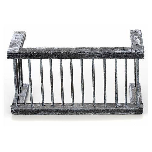 Mini balustrade balcon crèche Napolitaine 11,5x5x6 cm 1