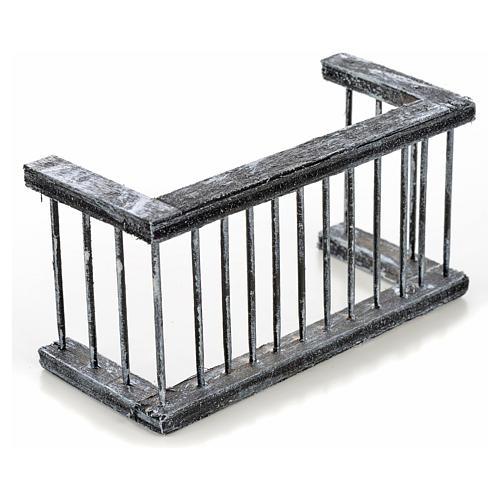 Mini balustrade balcon crèche Napolitaine 11,5x5x6 cm 2