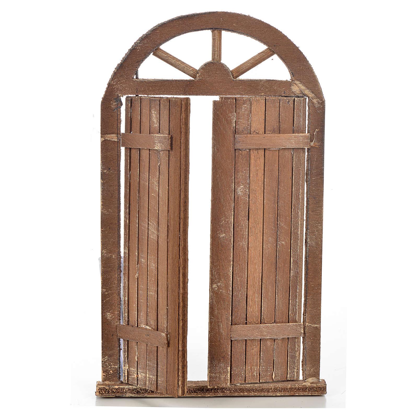 Mini porte crèche Napolitaine 10x17 cm 4