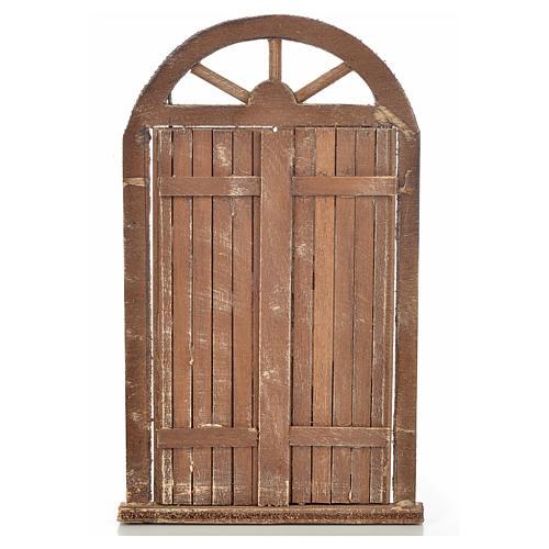 Mini porte crèche Napolitaine 10x17 cm 1