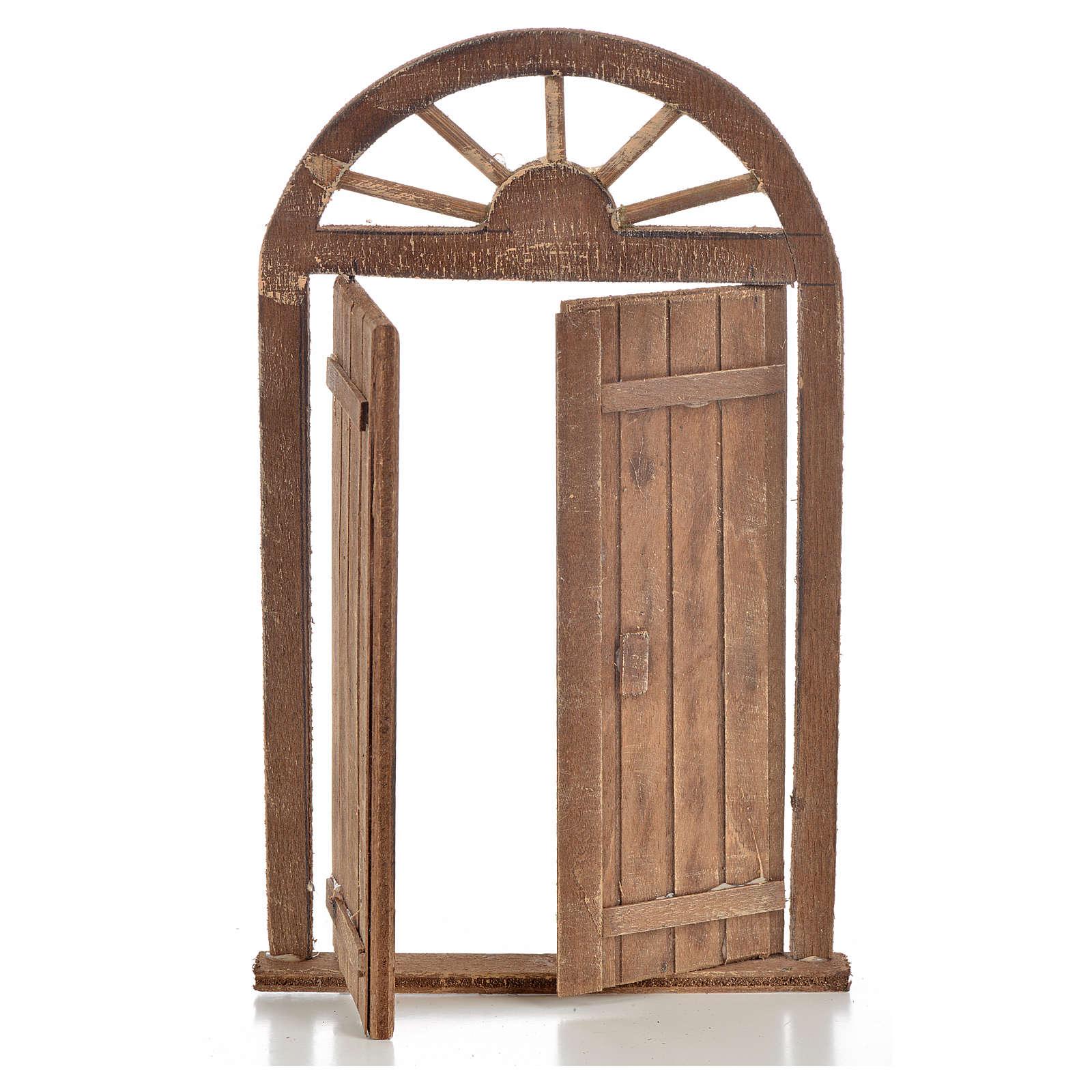 Mini porte crèche Napolitaine 13x21 cm 4