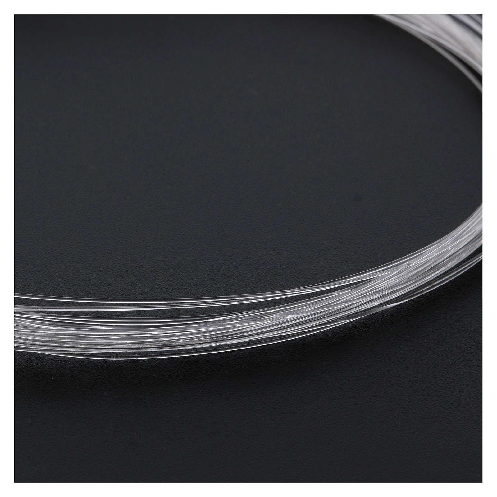 Bobbin of optical fibre for nativity scenes, 10mt; diam 0,50mm 4