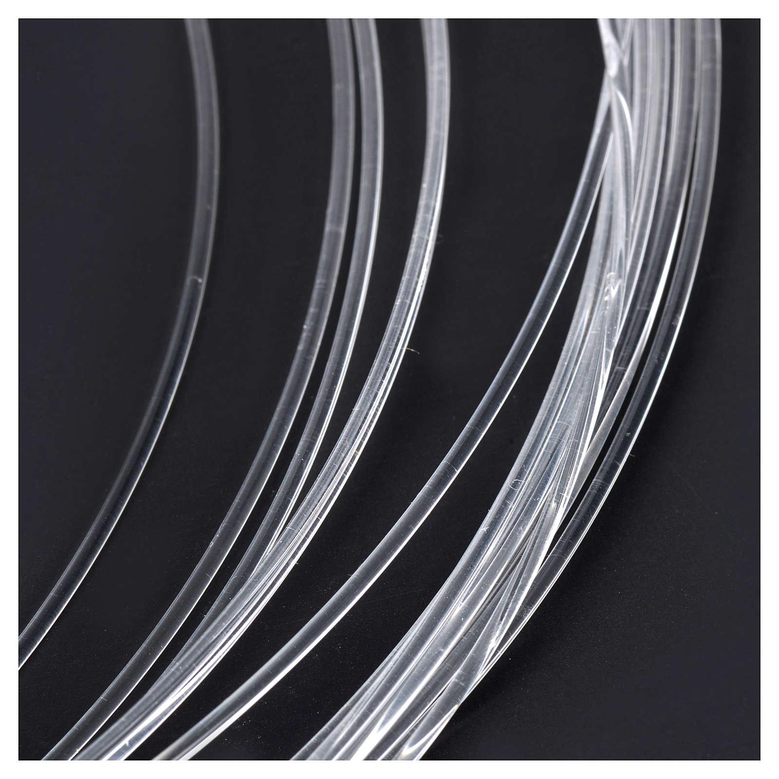 Bobbin of optical fibre for nativity scenes, 10mt; diam 1,50mm 4