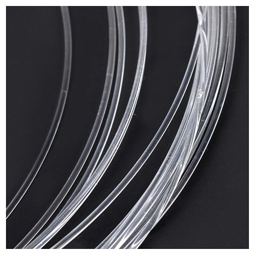 Bobbin of optical fibre for nativity scenes, 10mt; diam 1,50mm 2