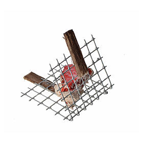 Nativity accessory, iron grill with meat 5x4cm s3