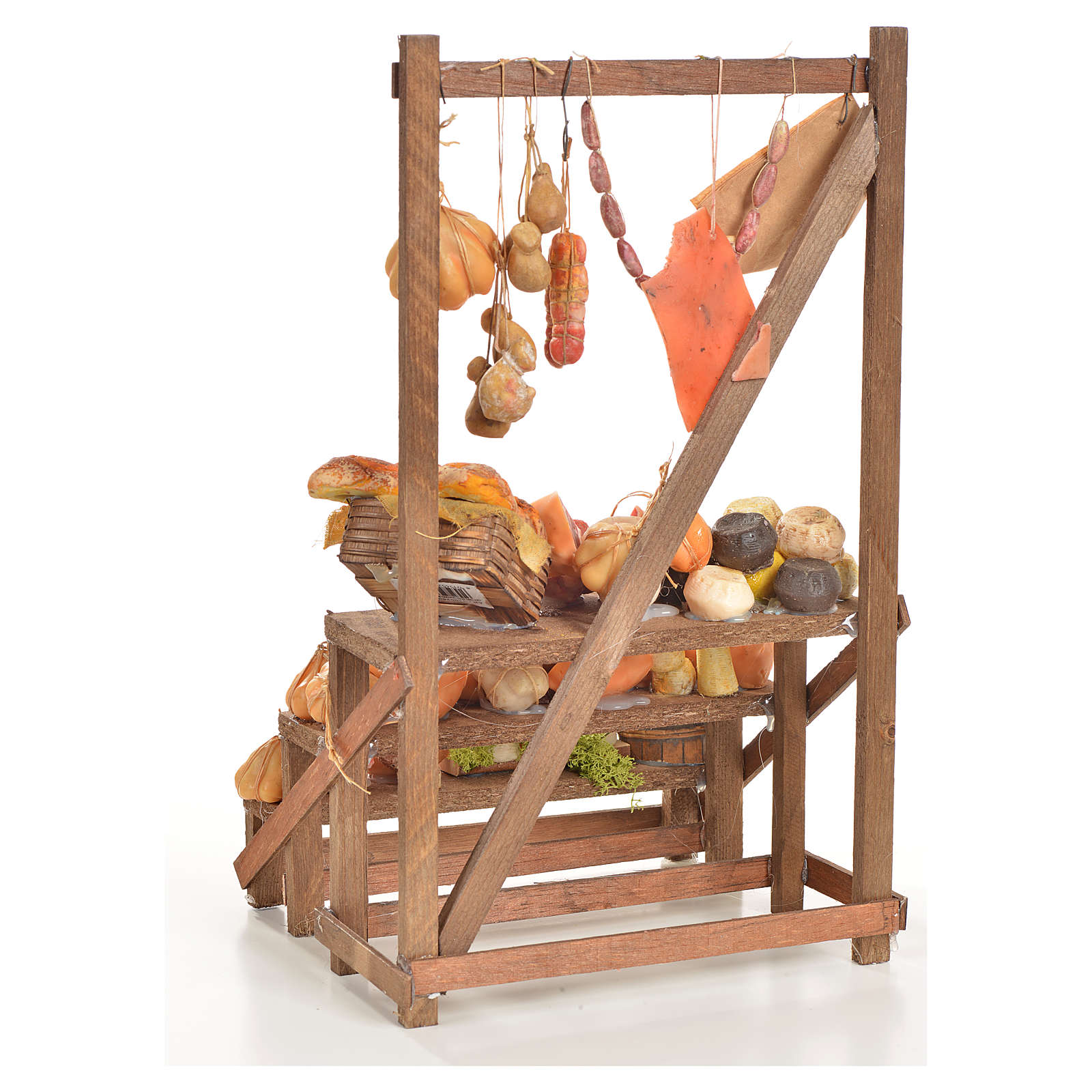 Banc du charcutier en cire en miniature 20x22x40cm 4