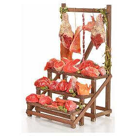 Nativity accessory, butcher's stall 20x22x40cm s2