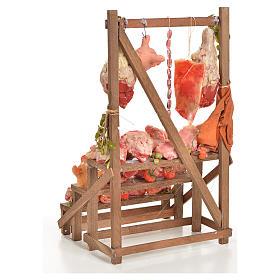 Banc du boucher en cire en miniature 20x22x40cm s3
