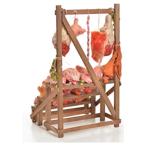 Banc du boucher en cire en miniature 20x22x40cm 3