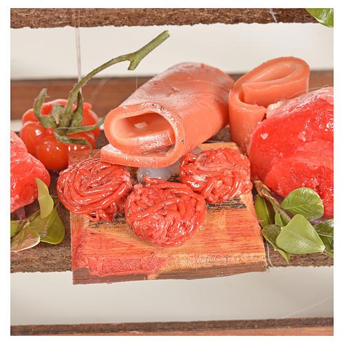 Banc du boucher en cire en miniature 20x22x40cm 6
