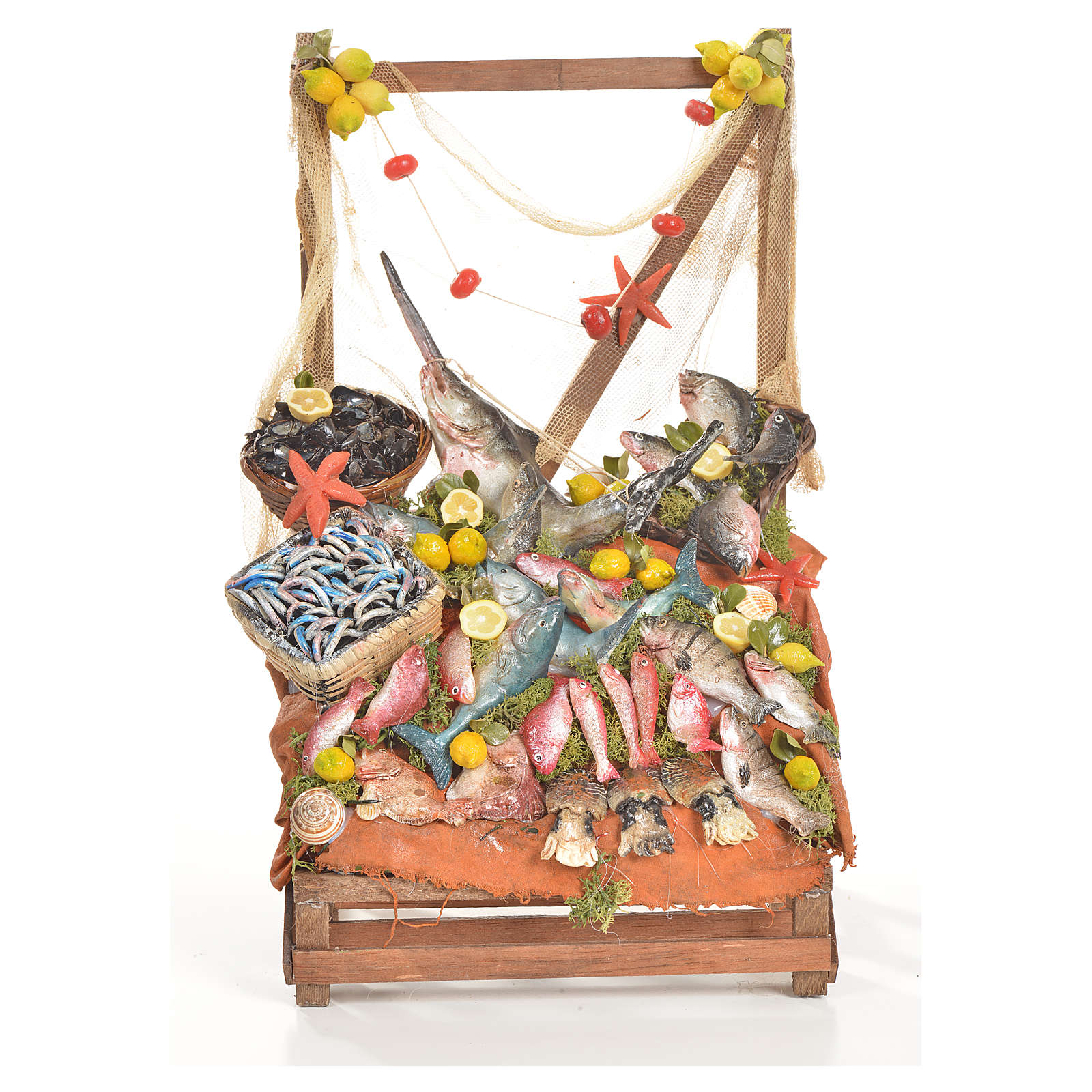 Nativity accessory, fishmonger's stall 20x22x40cm 4