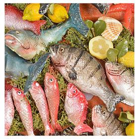 Nativity accessory, fishmonger's stall 20x22x40cm s6