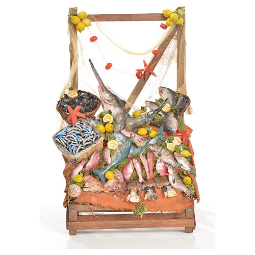 Nativity accessory, fishmonger's stall 20x22x40cm 1