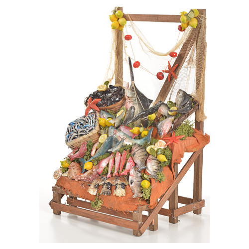 Nativity accessory, fishmonger's stall 20x22x40cm 2