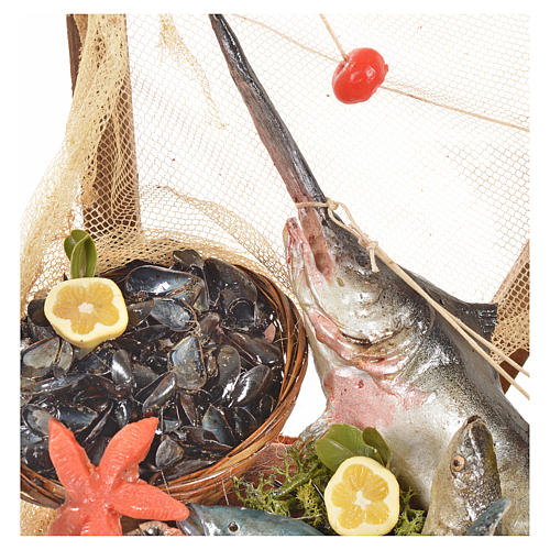 Nativity accessory, fishmonger's stall 20x22x40cm 5