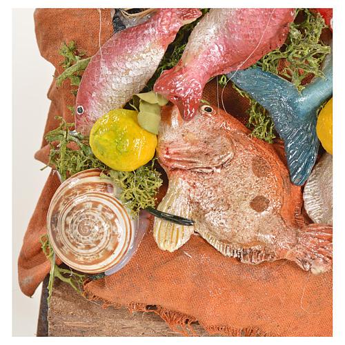 Nativity accessory, fishmonger's stall 20x22x40cm 7