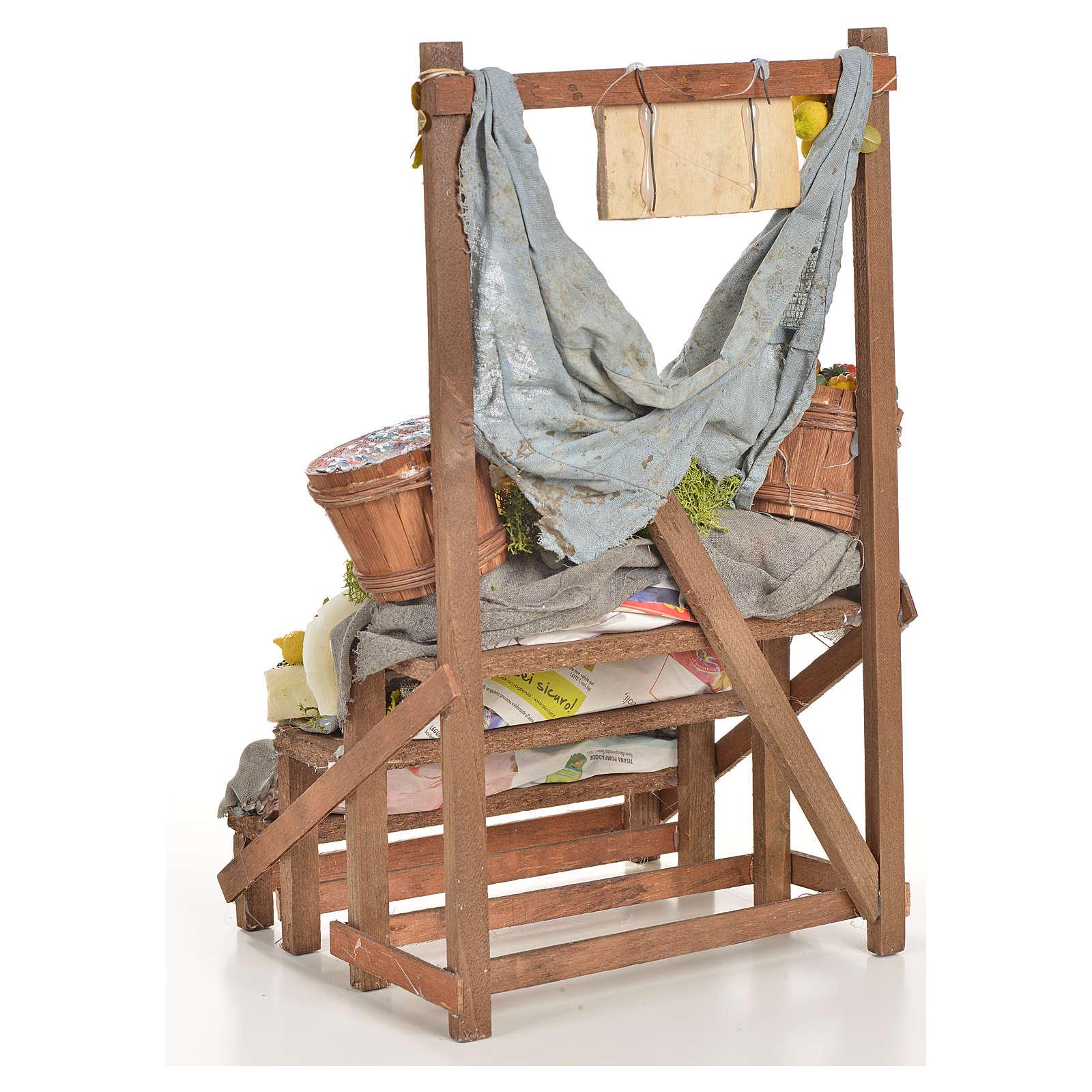 Nativity accessory, salt cod stall 20x22x44cm 4