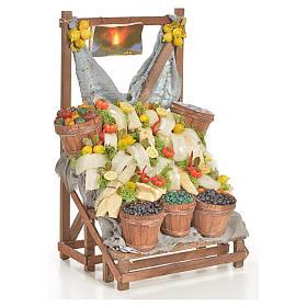 Nativity accessory, salt cod stall 20x22x44cm s4