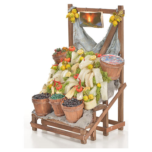 Nativity accessory, salt cod stall 20x22x44cm 2