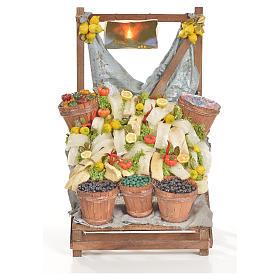 Comida em Miniatura para Presépio: Banca bacalhau em cera 20x22x40 cm
