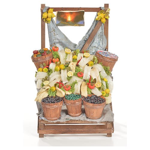 Nativity accessory, salt cod stall 20x22x44cm 1