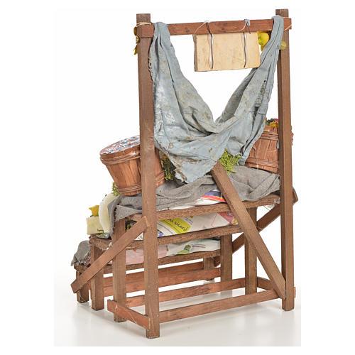 Nativity accessory, salt cod stall 20x22x44cm 3