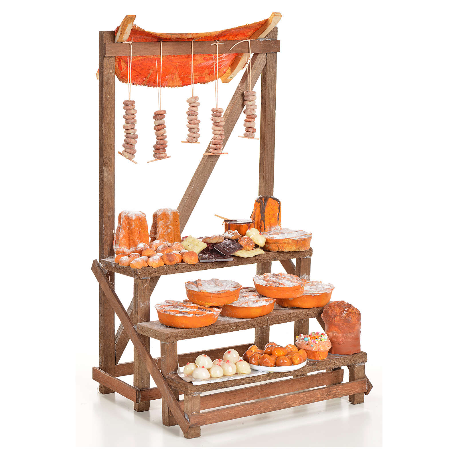 Nativity accessory, confectioner's stall 20x22x44cm 4