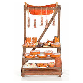 Nativity accessory, confectioner's stall 20x22x44cm s1