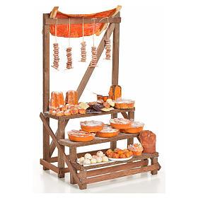 Nativity accessory, confectioner's stall 20x22x44cm s4