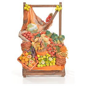 Nativity accessory, greengrocer's stall 20x22x44cm s8